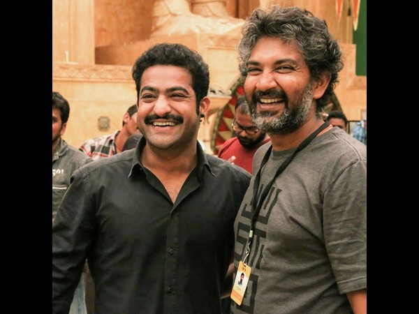 NTR on the sets of Baahubali!
