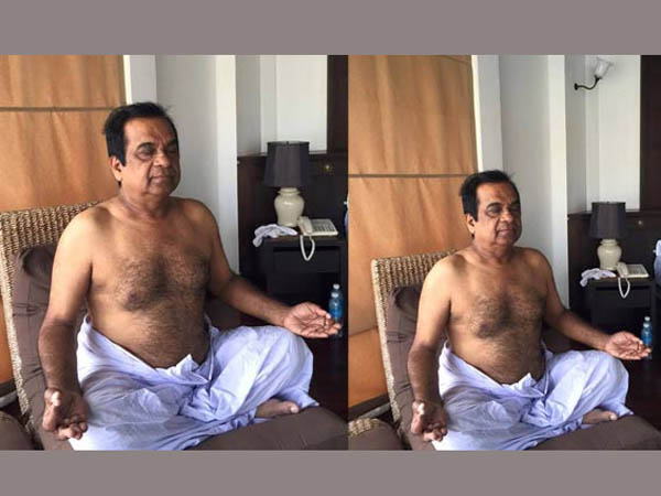 Brahmanandam participated in International day of Yoga