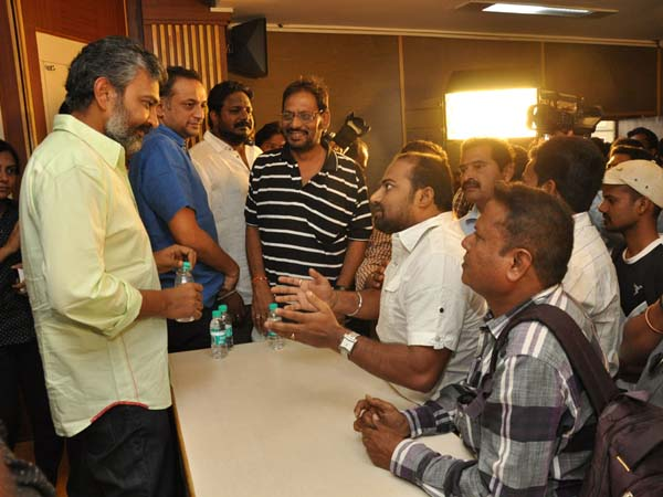 Baahubali Anti Piracy Press Meet...Angry Rajamouli