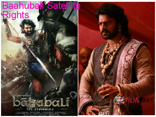 Baahubali Hindi Satellite Rights Price
