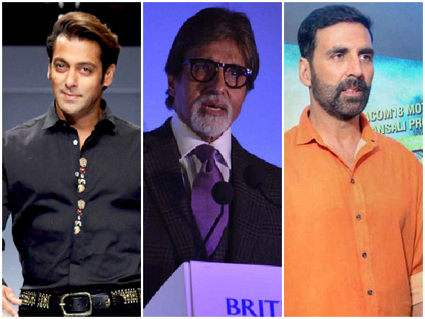 Salman, Amitabh, Akshay Kumar in top 10 highest-paid actors list