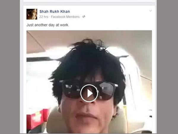 Shahrukh Khan Becomes First Bollywood Star To Use Facebook Mentions Live Broadcast
