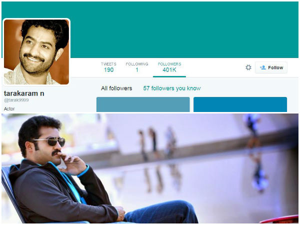 4 Lakh Followers Completed for Jr NTR