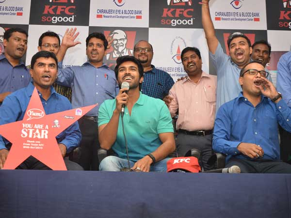 KFC employees donating blood at Chiranjeevi Charitable Trust