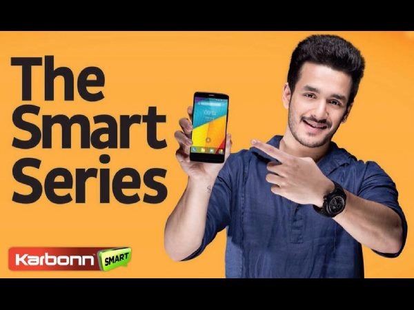 Akhil as brand ambassador for Karbon mobiles