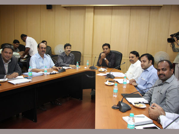 KTR meeting with Cine celebrities on Online Piracy