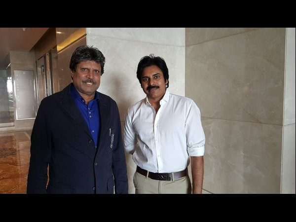 Pawan Kalyan asked for photo with Kapil Dev
