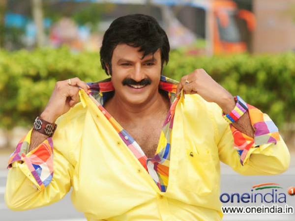 Balayya doing a stunt without any dupe