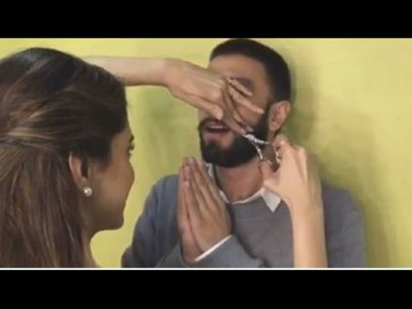 Deepika Padukone Just Cut Ranveer Singh's Moustache Off