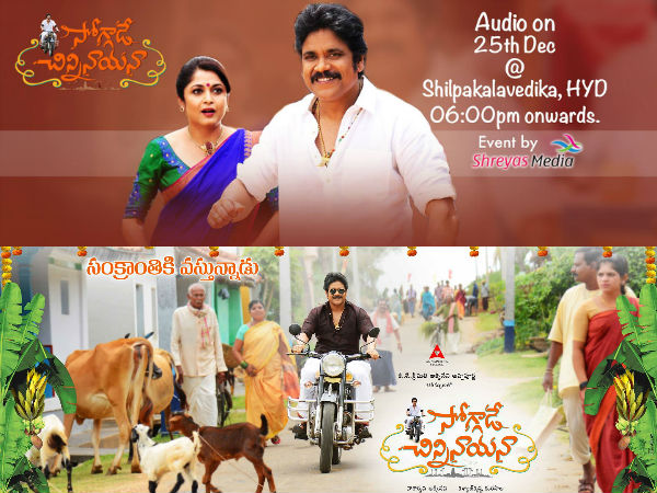 Nag's Soggade Chinni Nayana audio launch on Dec 25