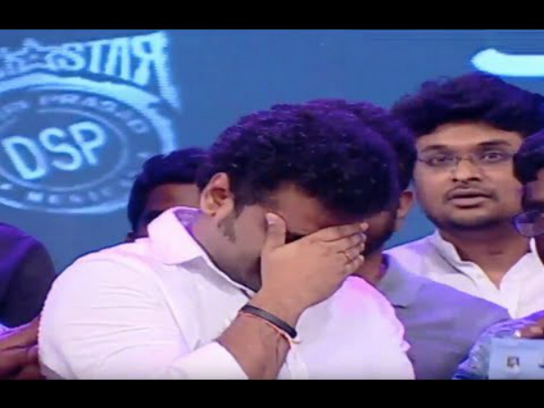DSP Gets Emotional During Jr. NTR's Speech