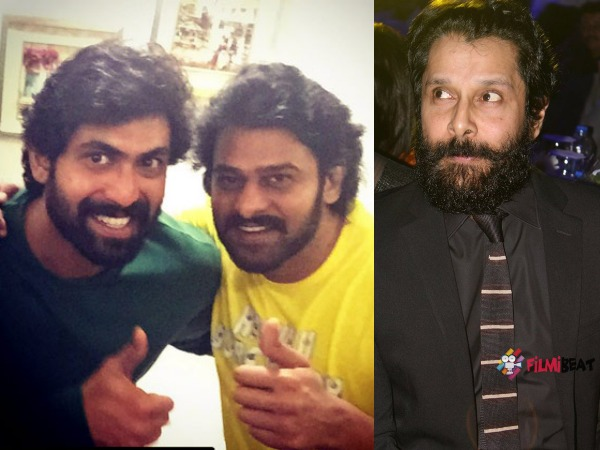 Prabhas And Rana To Feature In A Song Directed By Chiyaan Vikram