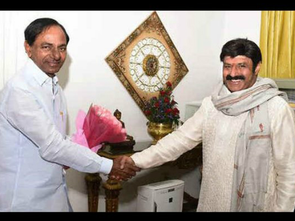 Balayya inviting Telangana Chief Minister KCR to watch Dictator special screening