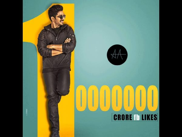 Allu Arjun gets 1 Cr fans on Facebook