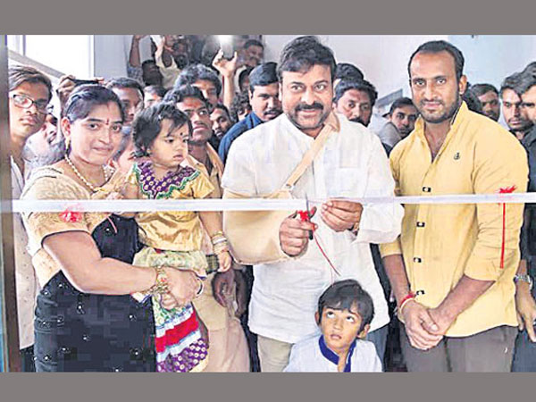 Chiranjeevi Spotted in Gym