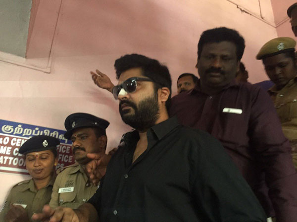 Actor Simbu appears before police in Beep song case