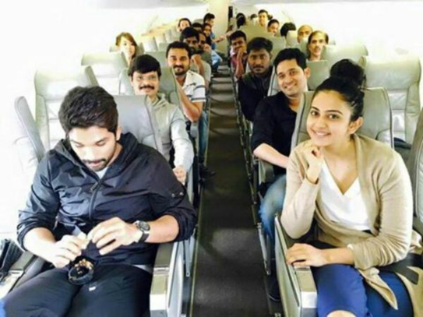 Sarrainodu Team landed in Bolivia