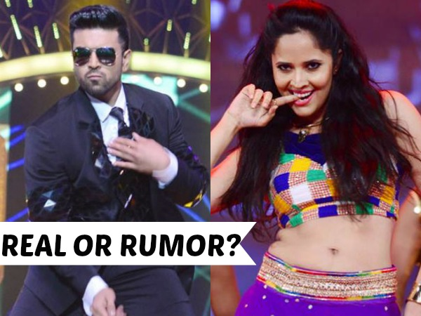 Anasuya reacts on Ram Charan movie offer