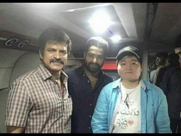 Japanese fan meets NTR on sets