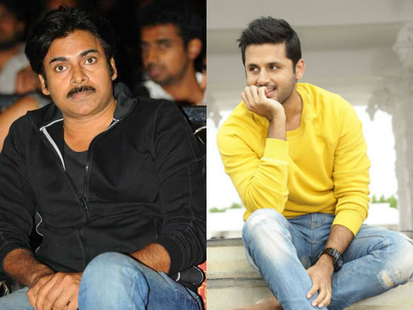 Nitin received Mangoes from Pawan Kalyan