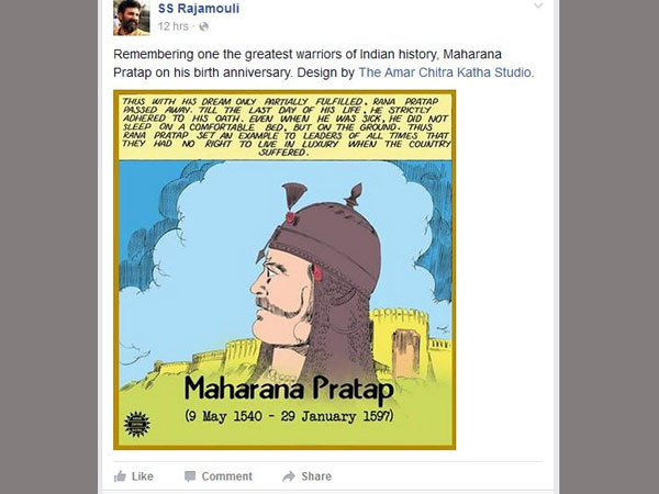 Rajamouli next movie on Maharana Pratap?