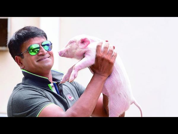 Director Ravi Babu's next with a Baby pig