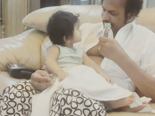 Mohan babu with Lakshmi Manchu's Daughter Vidya Nirvana