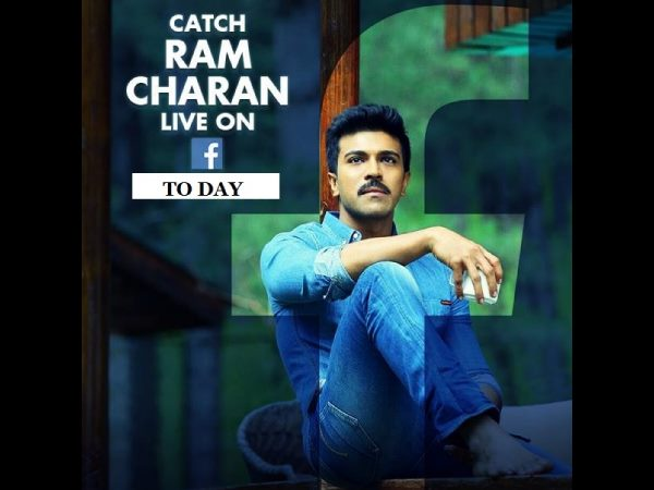 Face book live: Ram Charan chat with with his fans