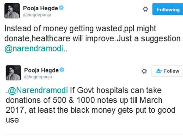 Pooja Hedge offers Free Advice to Modi