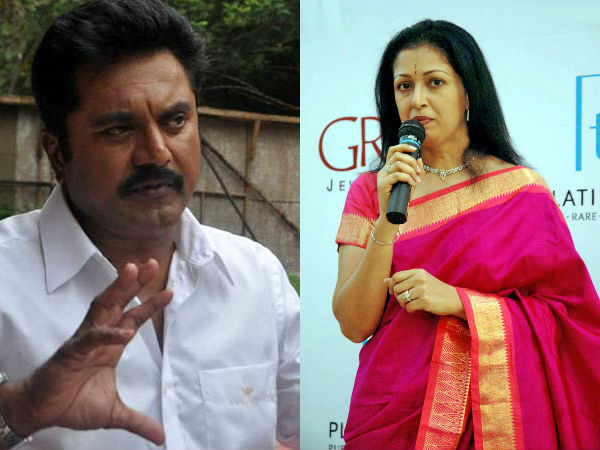 Sarath kumar counter letter for gouthami