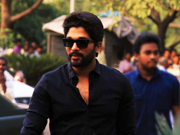 Stylish Star Allu Arjun serious over Models in Duvvada Jagannadham sets.