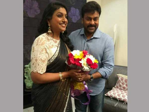 Roja Interviews Chiranjeevi For Khaidi no 150 Promotion