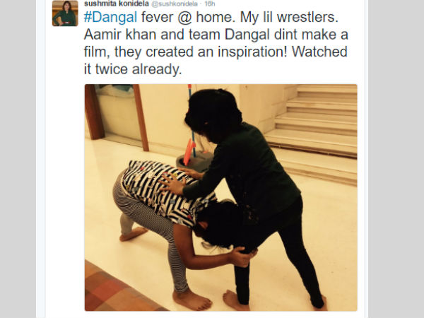Mega daoughter Susmitha Tweet About Dangal