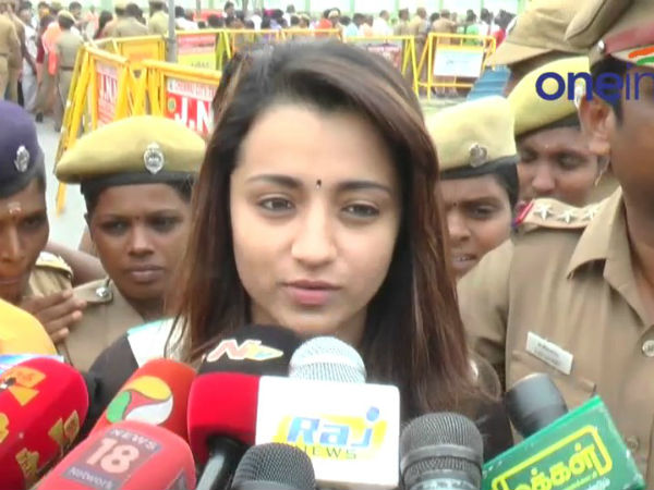 Trisha's Mother Seeks Police Protection For Trisha Over Jallikattu Row
