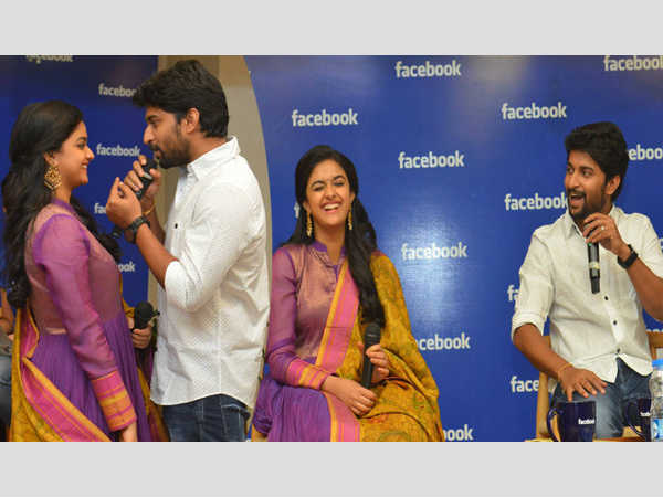 Nani and Keerthy Suresh Chit Chat at Facebook Office