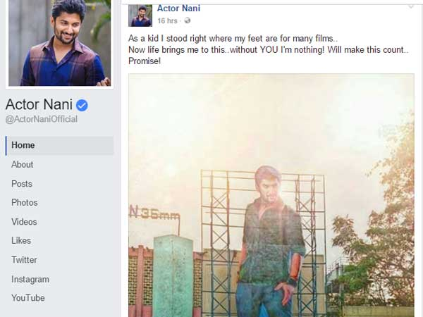 Nani posted in face book when he is a common man