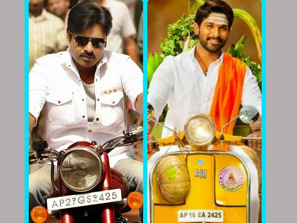 Allu Arjun uses similiar vehicle number which used by Pawan Kalyan in Gabbar Singh