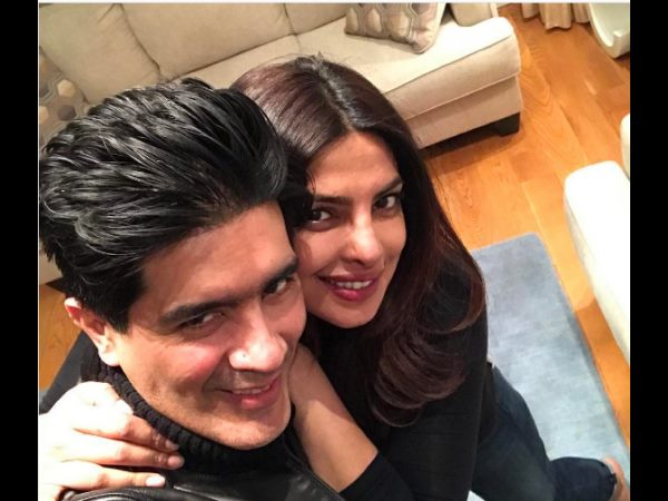 Designer Manish Malhotra met Priyanka Chopra in the United States
