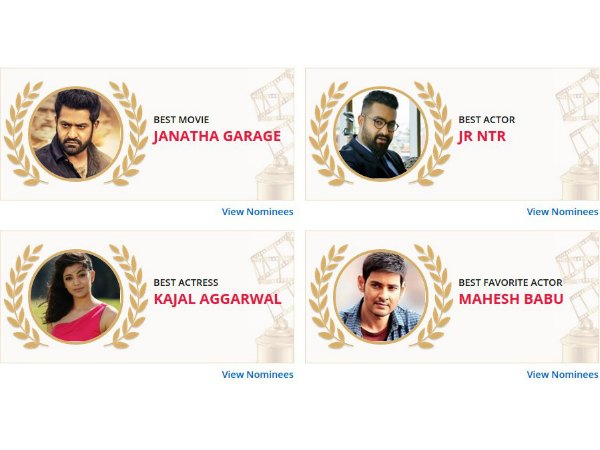 Best Of 2016 Results: Jr NTR, Kajal Agarwal And Janatha Garage Emerge As Winners!