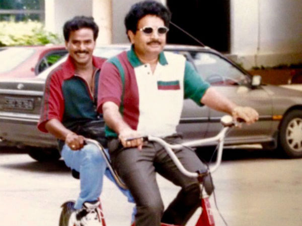 Atchireddy gives lift on bike for Ali, Venumadhav