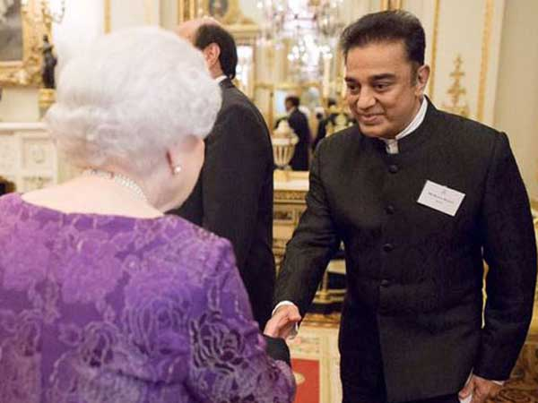 Kamal Hasaan meets Queen of England at UK India 2017