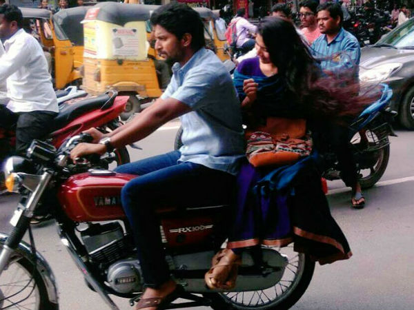 Nani and Sai Pallavi spotted enjoying bike ride In Hanamkonda