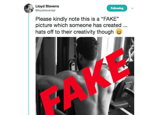 Gym trainer L. Stevens about NTR Fake Photo