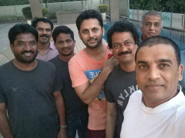 Nithin is busy with acting in Srinivasa Kalyanam movie.
