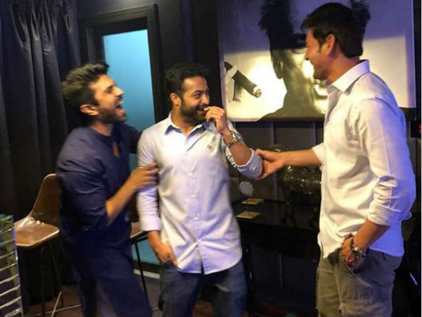 Pic Talk: Ram Charan, NTR and Mahesh Babu are all smiles
