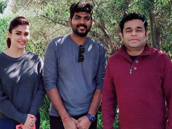 Nayanthara and Vignesh Shivan meet AR Rahman in Los Angeles