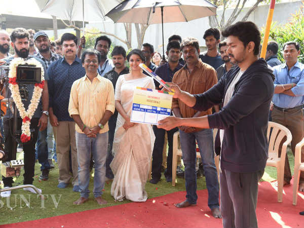 Actor Keerthy Suresh joined shoot for Vijay62