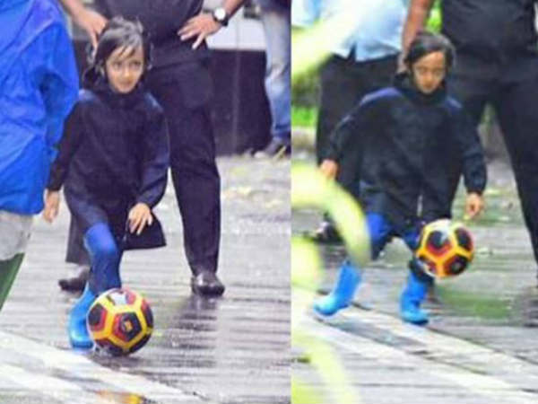 Aamir Khan's son Azad Rao plays football on Mumbai streets