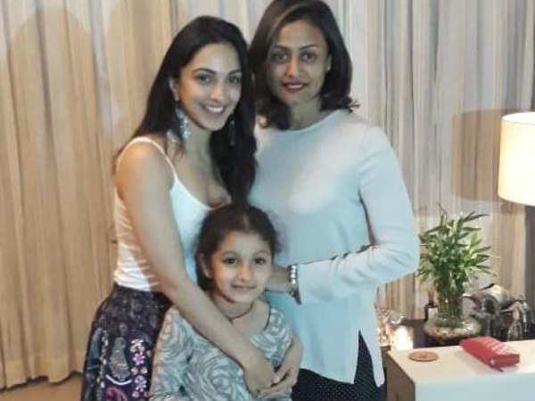 Kiara Advani at Mahesh home. Kiara advani is female lead in RC12