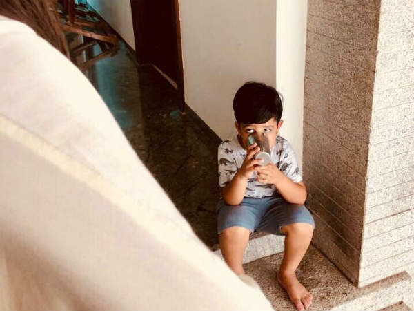 NTR tweets beautiful pic of his son